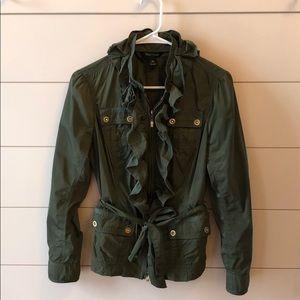 White House Black Market Olive Green Jacket